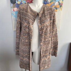 LUCKY BRAND Boho Neutral Tone Duster Cardigan